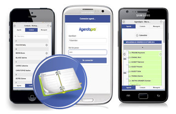 agenda version mobile, iphone, android
